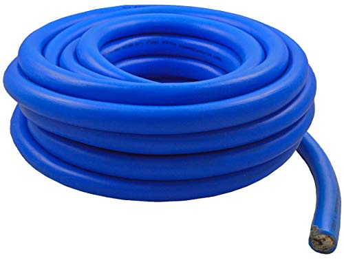 Blue Cable Ground Wire (0 Gauge 25 Feet Wire 1/0 AWG High Performance Flexible Amp Power Ground Cable (Blue))