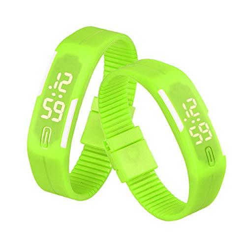Respctful✿Unisex Rubber LED Bracelet Watch Sports Wrist Gift Watch Resistant Digital Watch