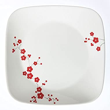 "Corelle Square Hanami Garden 8-3/4"" Lunch Plate (Set of 4)"