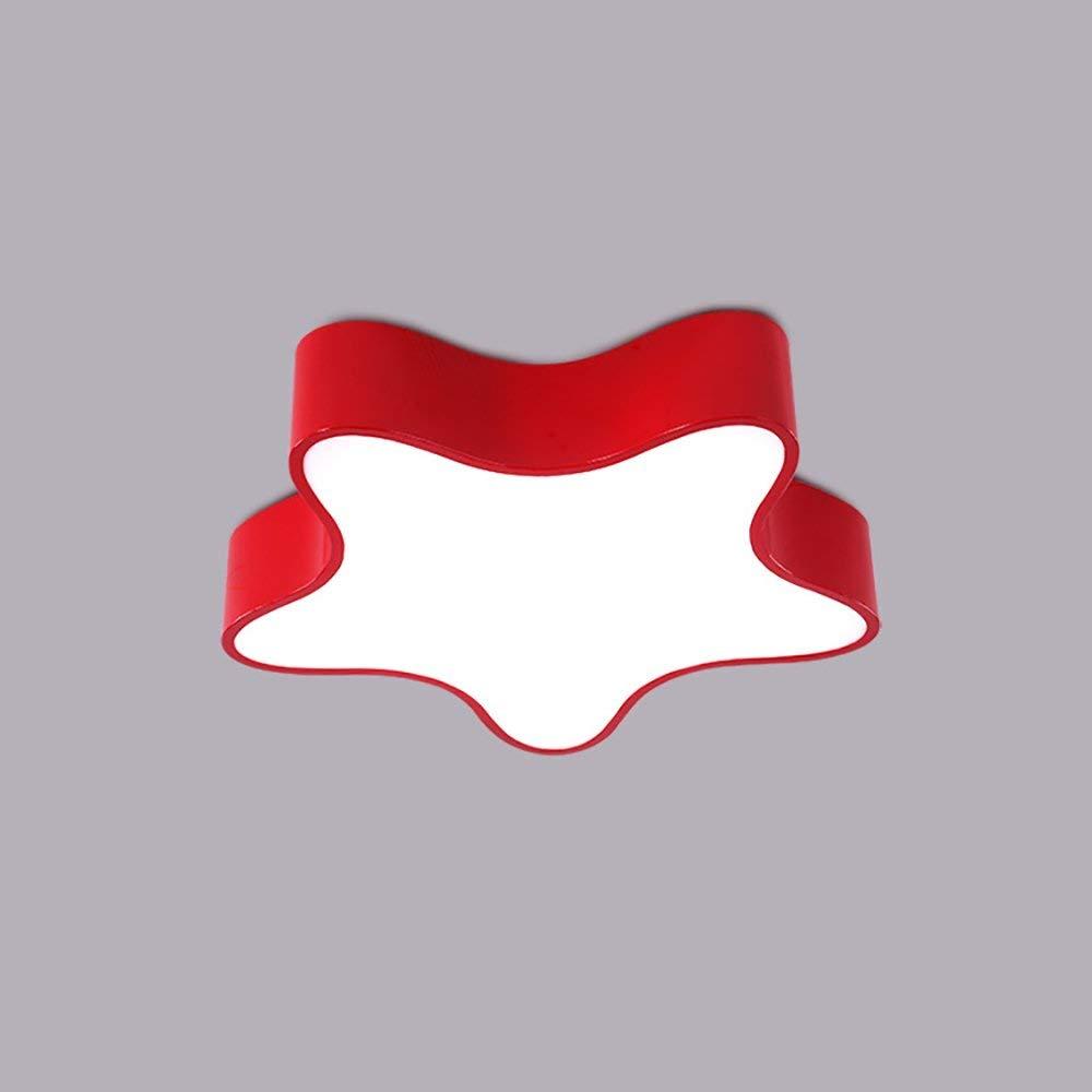 Haiyao Led子供天井ランプカラー五芒星アイアンアクリル保護アイボーイガールルーム遊び場幼稚園ライト220ボルト10平方メートル - 20平方メートル (Color : 赤, サイズ : 60*60CM) B07SCW89HN 赤 60*60CM