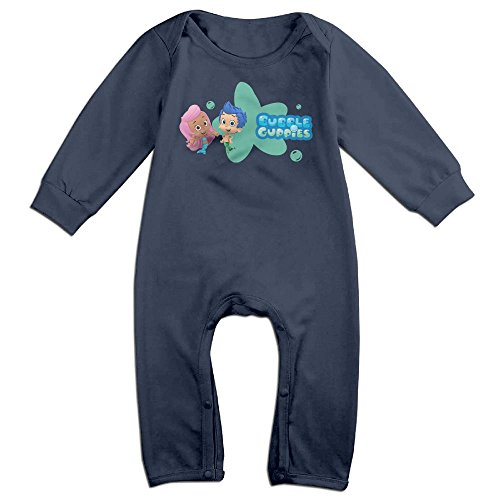Baby Infant Romper Bubble Guppies Long Sleeve Bodysuit Outfits Clothes Navy 18 Months