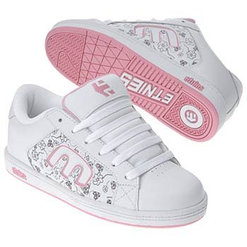 Etnies Little Kid/Big Kid Digit Sneaker,White/Light Pink,12 M Little Kid