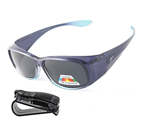 Fit Over Polarized Sunglasses Lens Cover Sunglasses plus car clip - Cover Sunglasses Cheap