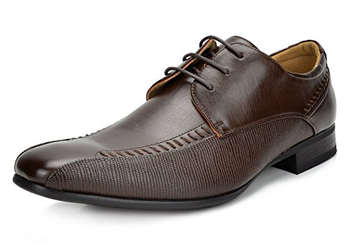 Bruno Marc Men's Gordon-01 Dark Brown Classic Modern Formal Oxfords Lace Up Leather Lined Snipe Toe Dress Shoes - 10 M ()