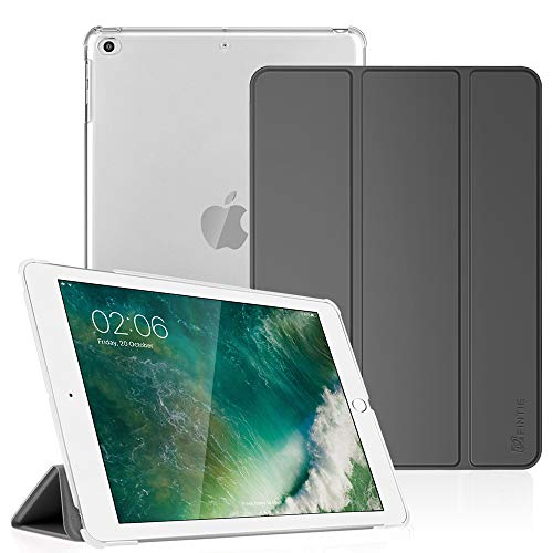 Fintie iPad 9.7 2018/2017, iPad Air 2, iPad Air Case - Lightweight Slim Shell Cover with Translucent Frosted Back Protector Supports Auto Wake/Sleep for iPad 6th / 5th Gen, iPad Air 1/2, Space Gray (Best Ipad Engraving Ideas)