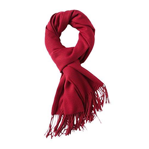 MaaMgic Womens Large Soft Cashmere Feel Pashmina Shawls Wraps Light Scarf, Bright Red by MaaMgic
