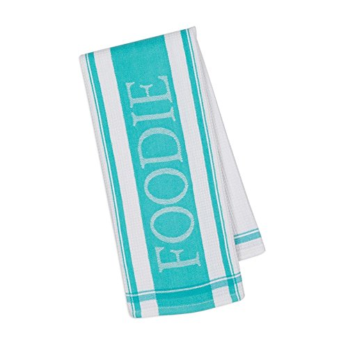 Foodie Jacquard Kitchen Dish Towel - 18-in x 28-in (Aqua)