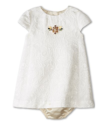 Dolce & Gabbana Kids Baby Girl's Ceremony Embroidered Dress Set (Infant) White 18-24 - And 2015 Dolce Gabbana