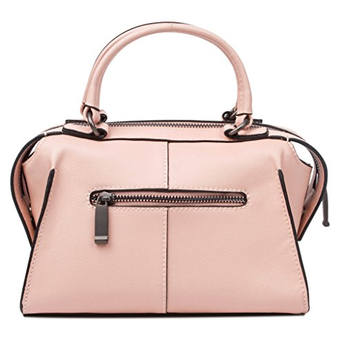 Baigio New Spring Leather Small Satchel Purses Hand Bag For Women Pink