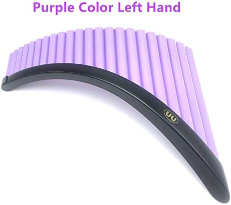 XSWY 22 Pipes PanFluteBase G Key ABS Plastic Romania Pan flute Music Instrument Tunable Panpipes Flauta Whole (Color : Purple Left Hand) / XSWY 22 Pipes PanFluteBase G Key ABS Plastic Romania Pan flute Music Instrument Tunable Panp...
