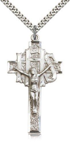 Icecarats Créatrice De Bijoux Sterling Crucifix Pendentif En Argent 1 7/8 X 1 Pouce