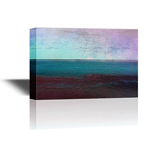 Abstract Seascape with Calm Sea at Sunset Time Gallery