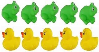 TOOGOO(R) 1 set of Frogs & Ducks 5Pcs+5Pcs Baby Bath Tub Toys