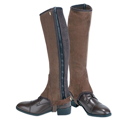 (Tredstep Ireland Original Suede Half Chaps - Brown Calf 15/Height 18)