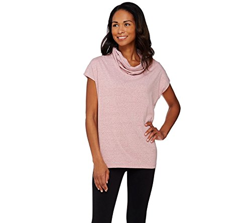 Lisa Rinna Collection Stylish Knit Poncho Top Cowl Neckline Rose Xs New A274670