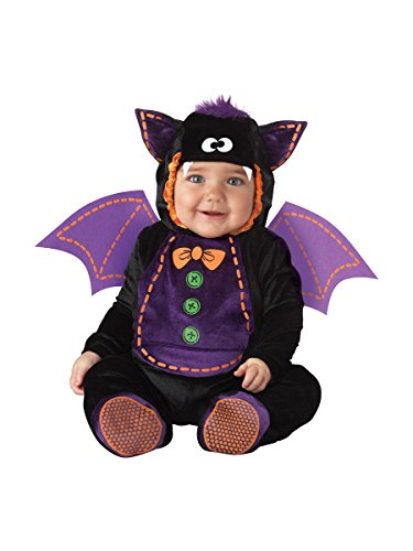 Infant Bat Costumes (InCharacter Costumes Baby Bat Costume, Black/Purple, Large)