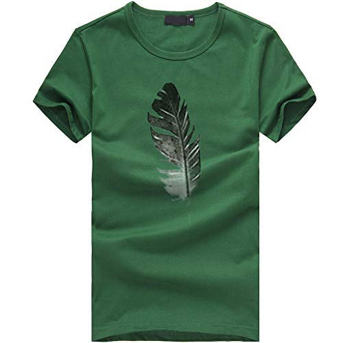 AOJIAN Women's T Shirt Short Sleeve Shirts Feather Printed O Neck Tunic Blouse Tanks Vest Tops – DiZiSports Store