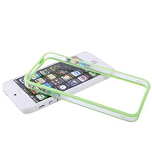 Transparent Plastic Bumper Frame with Buttons for iPhone 5 / 5S (Green)
