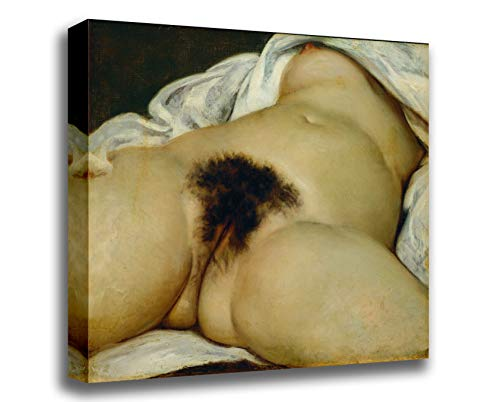 Canvas Print Wall Art - The Origin of The World - by Gustave Courbet - Gallery Wrapped - 12x10 inch
