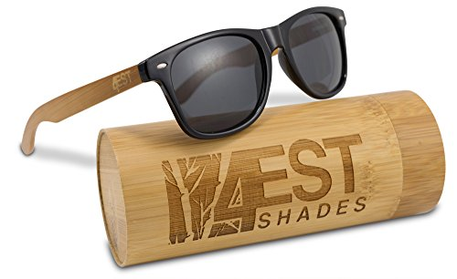 Bamboo Sunglasses - 100% Polarized Wood Shades for Men & Women from the 50/50 Collection Natural Bamboo