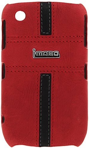 MOBO IM-HMC-HCBB8520-17RB Leather Cell Phone Case for Blackberry 8520/8530/9300/Curve Gemini - 1 Pack - Retail Packaging - Red/Black
