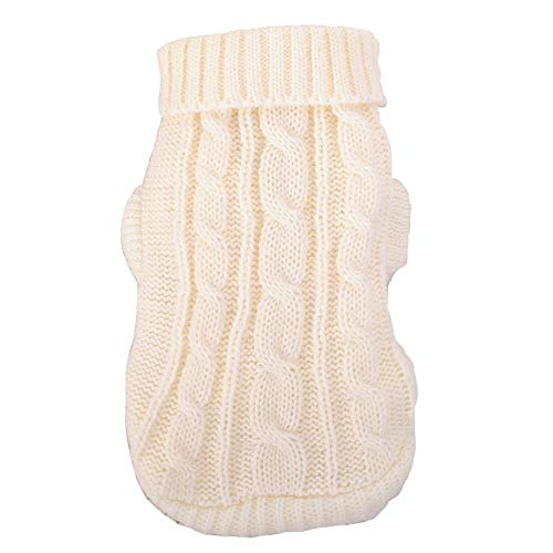 DENTRUN Mini Sweater Dog Cat Vest Coat Winter Cold Weather Jacket Sweater,Pet Cats Jeans Cool Christmas Denim Shirt, Pet Costume Clothing Pajamas Hoodie Warm Vest (Ut Sweater Dog)