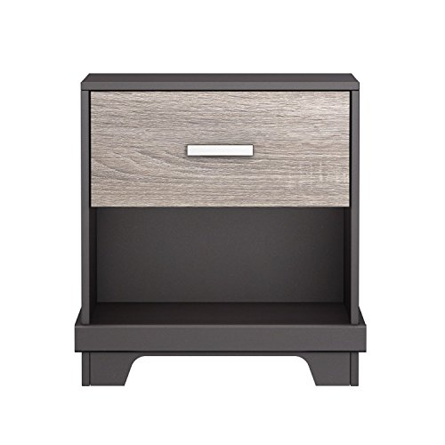 Homestar Manhattan 1 Drawer Nightstand Java Brown with Sonoma by Homestar North America LLC