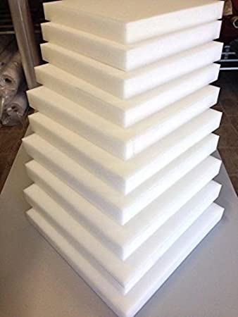 Grade A Replacement Foam Mattress Topper Cot Junior Kids Bed Choose from Size 5 cm to 4 cm and Cut Any Size Foam 100L x 50 x 5cm High Density Foam