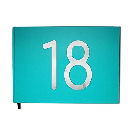 Range libro d' oro 18anni–formato A4Paesaggio–Cover Mate, lettere cromate -100pagine–QUALITÀ PREMIUM Pur Editions Uttscheid