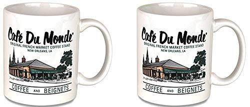 Cafe Du Monde Coffee Color Mug, Boxed Set of 2