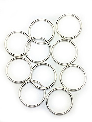 Amazon Com 10 Sterling Silver Round Open Jump Rings 15 5mm 16 Gauge