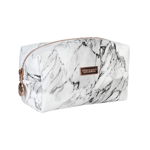 Stephanie Johnson Women's Carrara Iris Small Cosmetic Bag Travel Purse, Grey, One Size