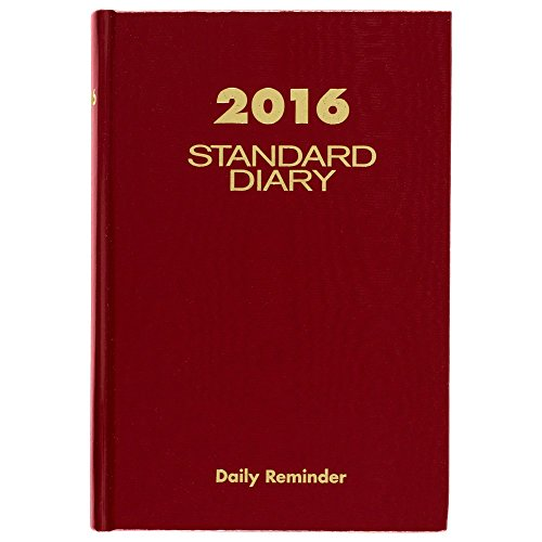 (AT-A-GLANCE Standard Diary 2016, Daily Diary, 5.75 x 8.25 Inches, Red (SD38913))