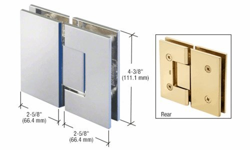 180 Series Chrome Glass (CRL Polished Chrome 180 Degree Glass-to-Glass Victoria Series Hinge)