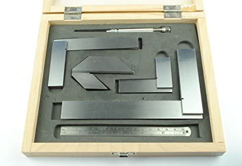 Scriber Engineers Squares Ruler. Centre Square Finder Proops 6 Piece Set of Engineers Marking Tools Free UK Postage M9004