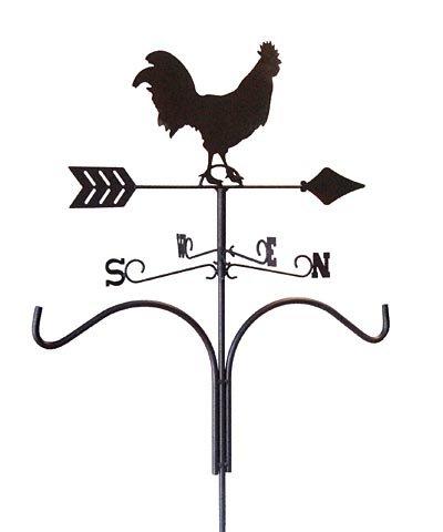 Panacea Rooster Weathervane Double Shepherd Hooks, Quantity 4 by Panacea