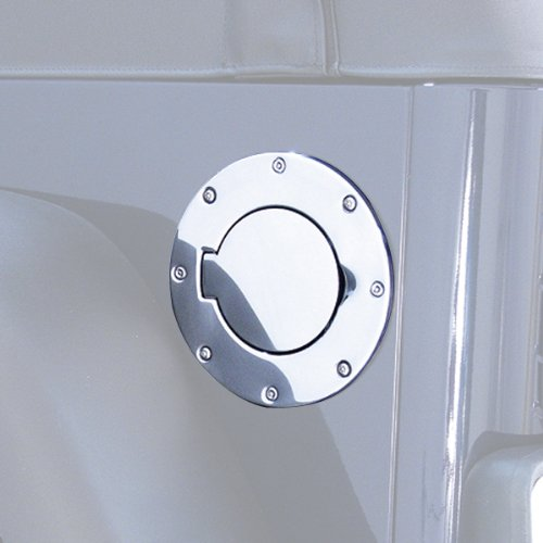 Rugged Ridge 11134.01 Polished Stainless Steel Gas Door Cover (Cover Stainless Fuel Door Steel)