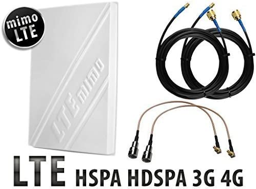 MIMO ANTENA Banda Ancha Móvil Amplificador de señal 2 x 15 metros Pérdida Baja Cable HUAWEI ZTE Vodafone K5150 Mf821 Mf823 R212 R215 R216 MF93 E5372 ...