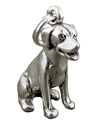 Corinna-Maria 925 Sterling Silver Sitting Labrador Retriever Dog Charm
