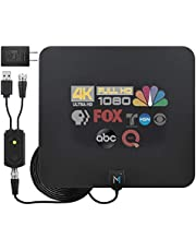 [Early Release 2022 Chip] HDTV Indoor Antenna Long Range 315 Mile Signal Reception; Hi-Power Amplified Antenna + 16.5 ft Coax Cable; Supports All HD Digital TV formats; Mata1 (US Company)