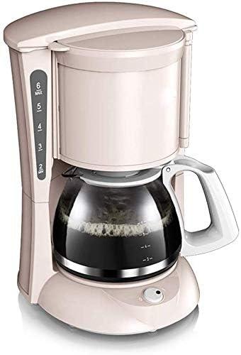 Jsmhh Máquina de café de Filtro Completamente automático del hogar Cafeteras Pequeño Mini Cafetera de Filtro Desmontable y un Plato Caliente de Aislamiento Anti-Goteo Diseño 0.65L 600W, Rosa: Amazon.es: Hogar