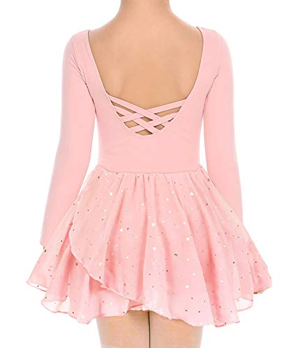 Move Dance Girls Dance Leotards Long Sleeve Ballet Outfits Clothes Tutu Dress for 3-9 Years