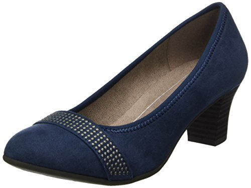 Softline WoMen 22474 Closed-Toe Pumps Blue (Navy)