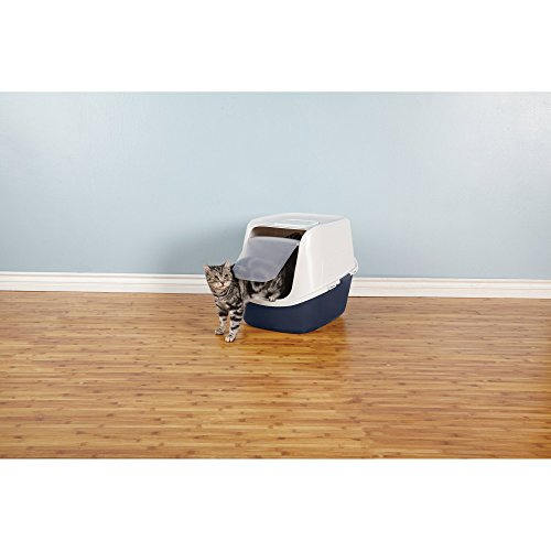 So-Phresh-Jumbo-Enclosed-Litter-Box-in-Navy-23-L-x-19-W-x-19-H-Blue
