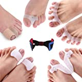 11 Piece Bunion Correctors and Toe Straightener Set - Extra Comfort Kit for Hallux Valgus, Hammer Toes, Bunion Pain and Foot Relief, Includes ebook and Toe stengthener Tool