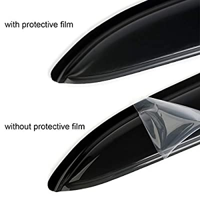 in-Channel Style Front Window Visors for 1994-2001 Ram 1500 1994-2002 Ram 2500/3500 Dark Smoke Tint Sun Rain Guard Vent Shade (Exclude Towing Mirror): Automotive