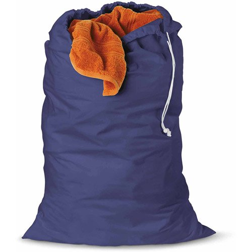 Honey-Can-Do Cotton Laundry Bag, Blue set of 2