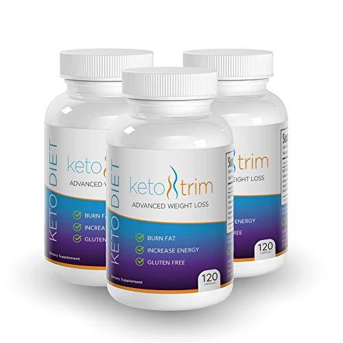 Keto BHB Ketones Supplement - Ketosis Energy Supplement for Keto Flu + Ashwagandha Root Powder, Ketones for Weight Loss, Keto Boost for Instant Ketosis, Keto Diet Supplements, 120 Keto Trim Pills by Vantage Nutrition (Image #1)