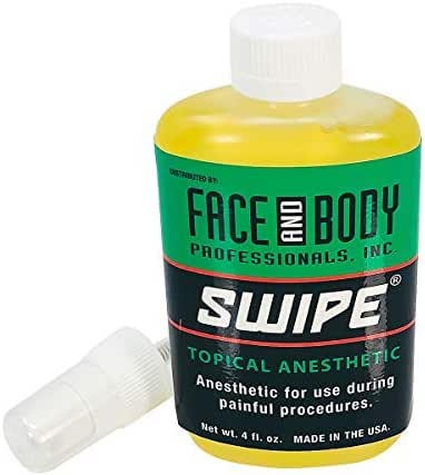 Swipe Topical Anesthetic During Painful Procedures Tattoo Anesthetics 4 fl. oz.