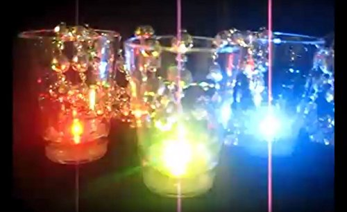 Light Up Flashing Shot Glass Mardi Gras Bead Necklace - 12 Pack - Tons of fun for that next party or New Year's Eve!